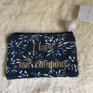 Handbags - 🌞💛 3 for $18💛 I Love Not Camping Cosmetic Bag